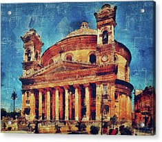 Mosta Church Acrylic Print