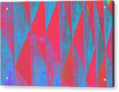 Mostly Blues And Reds Acrylic Print