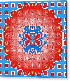 Mostly Red Acrylic Print by Susan Leggett
