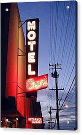 Motel Capri Acrylic Print by Mark Stevenson