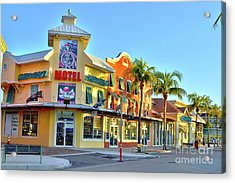 Acrylic Print featuring the photograph Motel On Fort Myers Beach Florida by Timothy Lowry