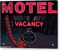 Motel-pink Acrylic Print