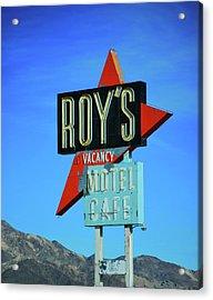Motel Sign Acrylic Print by Rheann Earnest