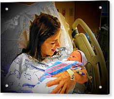 Mother And Babe Acrylic Print by Joyce Kimble Smith
