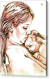 Mother And Child 1 Acrylic Print