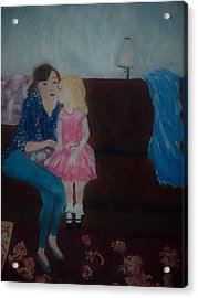 Mother And Child, Acrylic Print by Aleezah Selinger