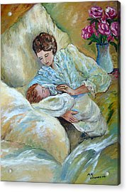 Mother And Child By May Villeneuve Acrylic Print