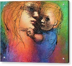 Mother And Child Acrylic Print by Claire  Szalay Phipps