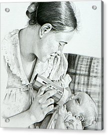Mother And Child Acrylic Print by David Ackerson