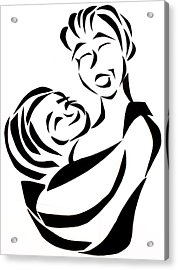 Mother And Child Acrylic Print by Delin Colon