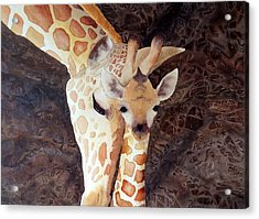 Acrylic Print featuring the painting Mother And Child by Laurel Best