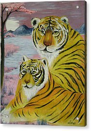 Mother And Child  Acrylic Print by Lian Zhen