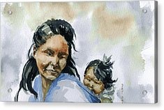 Mother And Child Acrylic Print by Pat Crowther