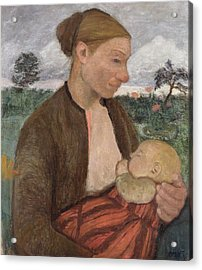 Mother And Child Acrylic Print by Paula Modersohn Becker