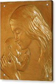 Mother And Child Relief  Acrylic Print