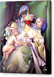 Mother And Child Reunion Acrylic Print by Patrick Anthony Pierson