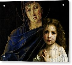 Acrylic Print featuring the mixed media Mother And Child Reunion  by Paul Lovering
