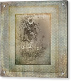 Mother And Child Reunion Vintage Frame Acrylic Print by Susan Capuano