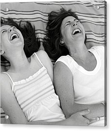 Mother And Daughter Laughing Acrylic Print by Michelle Quance