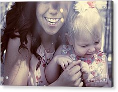 Mother And Daughter Laughing Together Outdoors Acrylic Print by Jorgo Photography - Wall Art Gallery