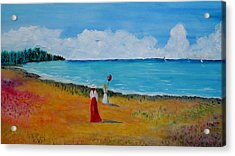 Acrylic Print featuring the painting Mother And Daughter by Marilyn  McNish