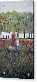 Acrylic Print featuring the painting Mother And Son by Marilyn  McNish