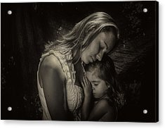 Mother Daughter Acrylic Print by Kevin Cable