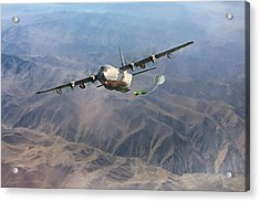 Mother Do You Think They Will Drop The Bomb Acrylic Print by Peter Chilelli