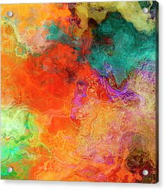 Mother Earth - Abstract Art - Triptych 2 Of 3 Acrylic Print