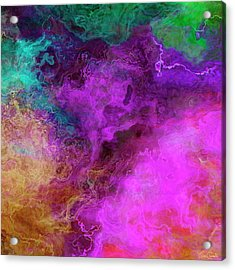 Mother Earth - Abstract Art - Triptych 3 Of 3 Acrylic Print
