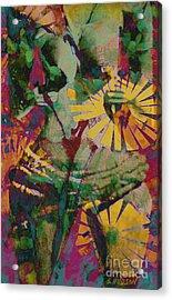 mother fertility goddess - Flower Goddess II Acrylic Print