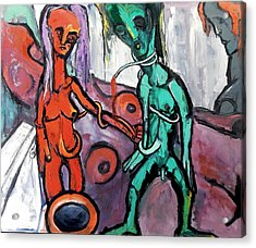 Acrylic Print featuring the painting Mother-giant--offspring by Kenneth Agnello