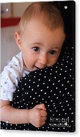 Mother Holding Baby Girl Acrylic Print by Sami Sarkis