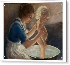 Mother Love-the Bath Acrylic Print by Pamela Mccabe