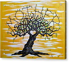 Acrylic Print featuring the drawing Mother Love Tree by Aaron Bombalicki