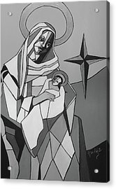 Mother Mary And Son Jesus Acrylic Print by Mary DuCharme