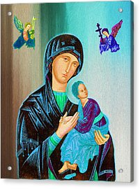 Mother Mary Acrylic Print by Ericamaxine Price