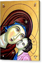 Mother Mary Acrylic Print by Murali