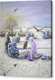 Mother Of Air Goddess Danu - Winter Solstice Acrylic Print