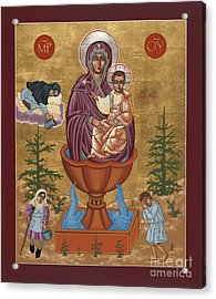 Acrylic Print featuring the painting Mother Of God Life Giving Spring by William Hart McNichols