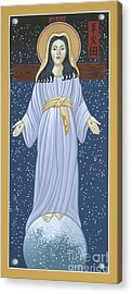 Acrylic Print featuring the painting Mother Of God Of Akita- Our Lady Of The Snows 115 by William Hart McNichols
