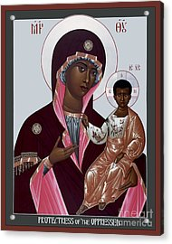 Mother Of God - Protectress Of The Oppressed - Rlpoo Acrylic Print