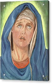 Mother Of Sorrow - Mater Dolorosa Acrylic Print by Remy Francis