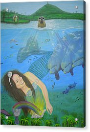 Mother Of Water Goddess Domnu - Summer Solstice Acrylic Print