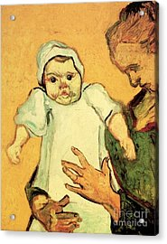 Mother Roulin With Her Baby 2 Acrylic Print by Vincent Van Gogh
