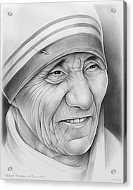 Mother Teresa Acrylic Print by Greg Joens