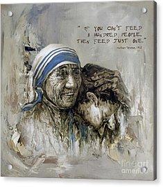 Mother Teresa Portrait  Acrylic Print