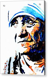 Mother Teresa Acrylic Print by Steven Ponsford