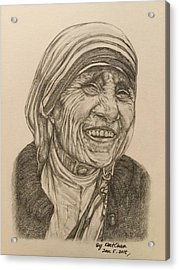 Mother Theresa Kindness Acrylic Print by Kent Chua