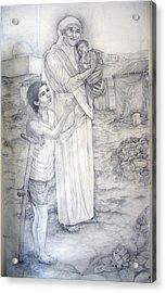 Mother Theresa Acrylic Print by Patrick RANKIN